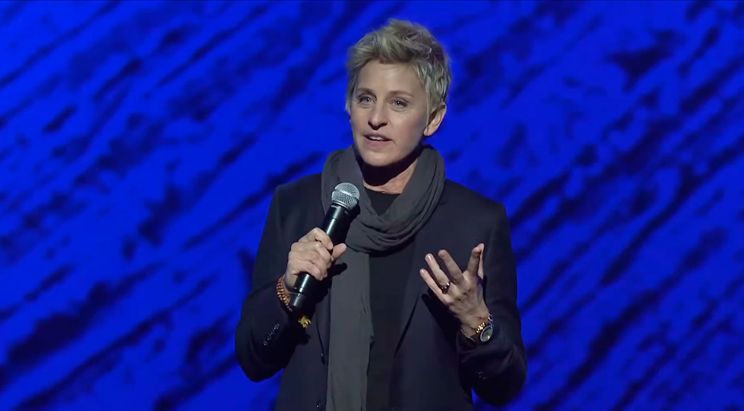 Ellen DeGeneres shares her experience with TM at the gala