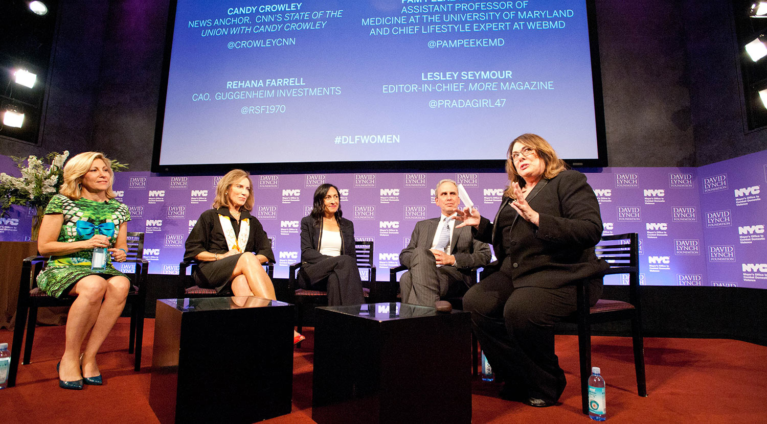 Lesley Seymour, Dr. Pamela Peeke, Rehana Farrell, Bob Roth, and Candy Crowley speak about meditation and stress.